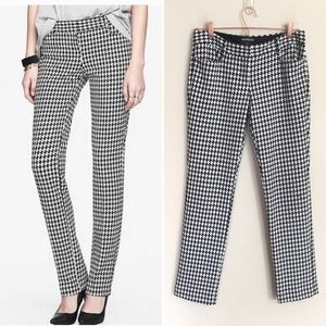 Express Columnist Textured Houndstooth Dress Pant